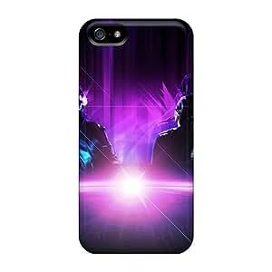 Bumper Hard Phone Case For Iphone 5/5s (hrc8518TPYl) Custom Beautiful Daft Punk Series