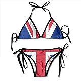 British Flag Bikini Set Adjustable Halter Sexy Women's Swimsuits Swimwear for Bathing