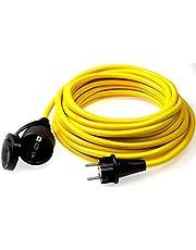 Sparen Sie bei as - Schwabe 60350 Verlängerungskabel 5m, K35 gelb, IP44 für Aussenbereich, 230 Volt und mehr