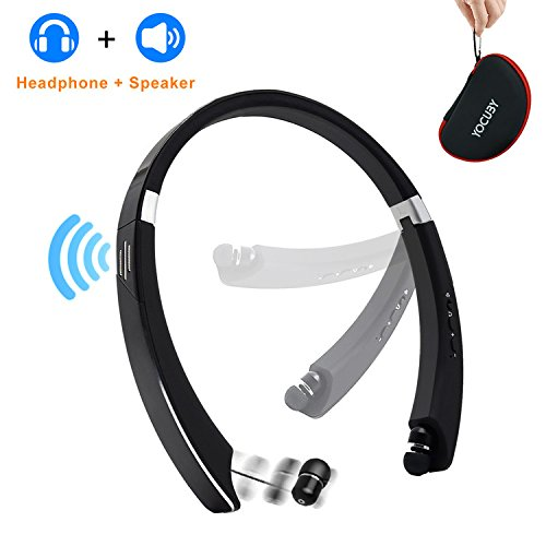 Bluetooth Headphone Speaker 2-in-1,YOCUBY Foldable and Retra