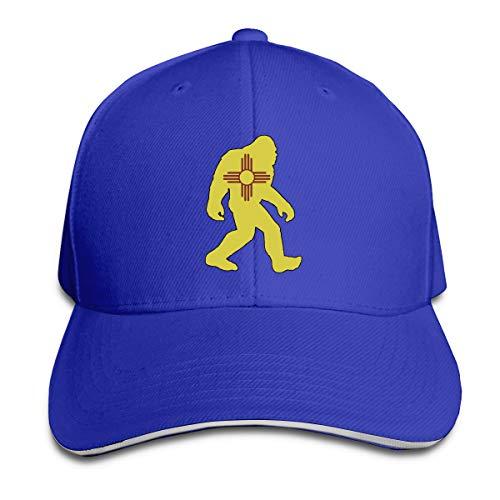 Adult Mexico Flag Bigfoot Yeti Sasquatch Cotton Lightweight Adjustable Peaked Baseball Cap Sandwich Hat Men Women