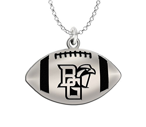 Sterling Silver Bowling Ball (Bowling Green University Falcons Sterling Silver Antiqued Football Pendant)