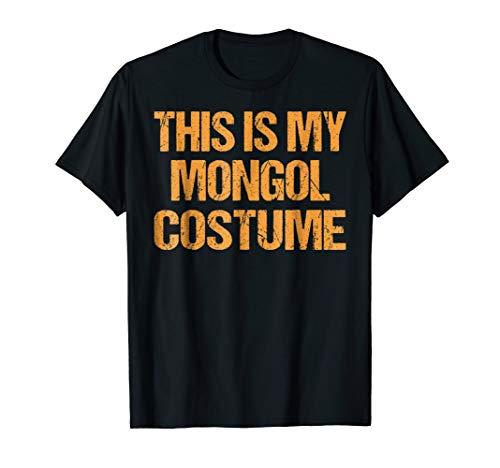 Mongol Halloween Shirt Easy Lazy Last Minute