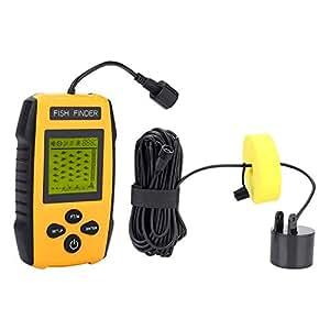... con Sensor de Sonar Detector de Peces, localizador de Profundidad, Accesorio de Aparejos de Pesca para Todos los Tipos de Pesca: Amazon.es: Electrónica