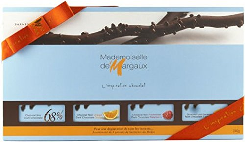 - Mademoiselle de Margaux Sarments du Medoc Gift Assortment: 4 boxes of Twigs Dark, Orange, Raspberry, Earl Grey