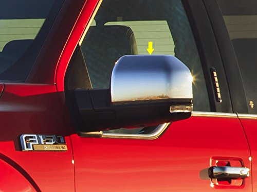 QAA FITS F-150 2015-2018 FORD (2 Pc: ABS Plastic Mirror Cover Set - Top Half Only (for non-painted mirror), 2/4-door) MC55307 (Covers Painted Mirror)