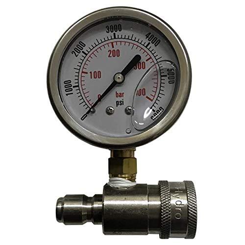 3,000 psi Pressure Test Gauge by PressureWasher.net
