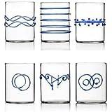 Set 6 Bicchieri DECO BLU