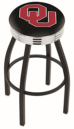 Holland Bar Stool L8B3C Oklahoma University Swivel Counter Stool, 25