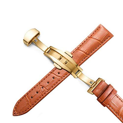 Plus Genuine Watch Band for Women Leather Watchbands 12-24mm Universal Butterfly Desallusa-Bands-207224 Buckle Steel Strap Wrist Belt Bracelet