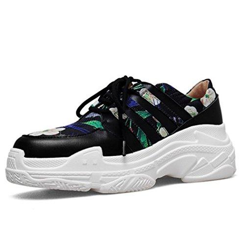 Scarpe con Corsa da Traspiranti Scarpe Suola Sportive da a Piedi Verde Spessa Stampate Scarpe Trekking Sneakers Harajuku Casual Leggere Sportive Scarpe GAOLIXIA Donna da A4Fpqp