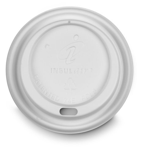 Insulair PDL8 White Dome Hot Drink Lid for 8-Ounce Cups (10 packs of 100)