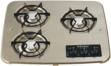 Lp Gas Cooktops For Rv On Sale Now Ppl Motor Homes >> Suburban 2938ast 3 Burner Stainless Cooktop