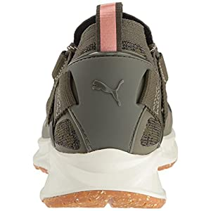 PUMA Women's Ignite Evoknit Lo vr Wn, Olive Night Black-Quiet Shade, 8.5 M US