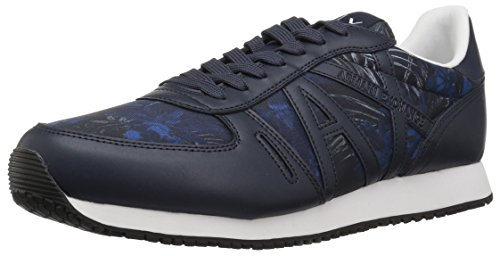 Armani Exchange Men's Exotic Jungle Print Retro Running Fashion Sneaker Exotic Blue high quality cheap online free shipping fast delivery 2015 new sale online sale discount 9Tg9A
