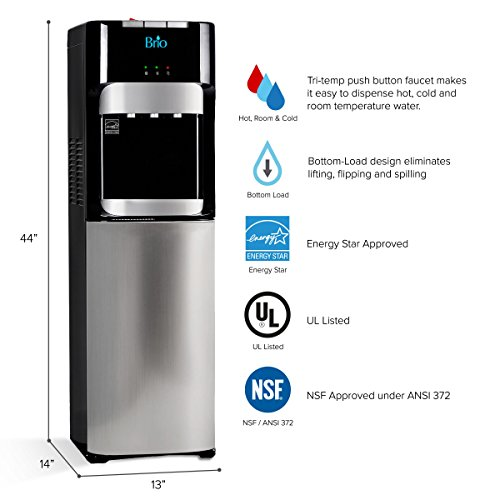 Brio Essential Series Bottom Load Hot, Cold & Room Water...