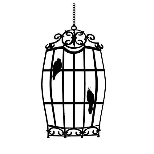 ONETOTOP Dos pájaros en la Jaula Etiqueta de la Pared de Gran ...