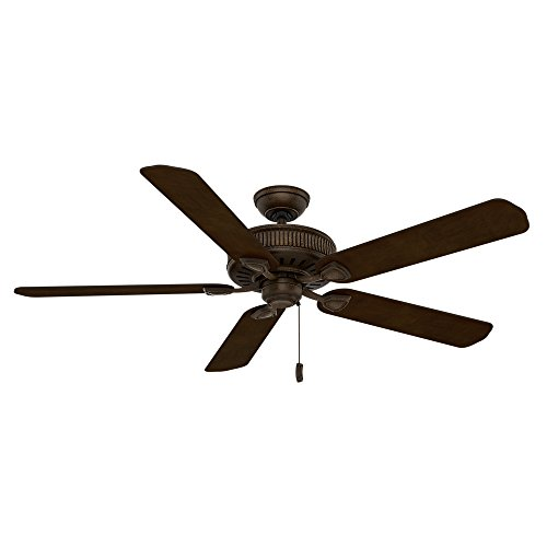 (Casablanca 55002 Ainsworth 60-Inch 5-Blade Ceiling Fan, Provence Crackle with Smoked Walnut/Espresso)