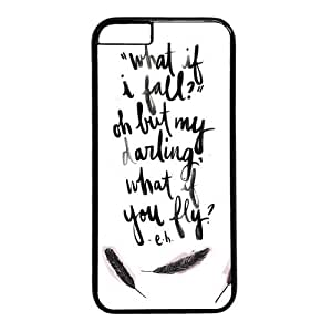 "Inspirational Quote What If I Fall Case for iPhone 6 Plus (5.5"") PC Material Black"
