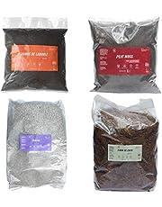 Kit Sustratos Fibra de Coco, Humus, Perlita y Peat Moss 4 unidades