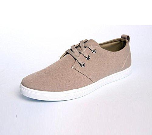 Gaorui Mens Moda Scarpe Da Uomo Signori Moda Sneakers Sport Casual Lace-up Camminare Piatto Per Il Tempo Libero Nero