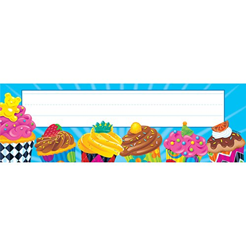 TREND enterprises, Inc. Cupcakes The Bake Shop Desk Toppers Name Plates, 36 ct