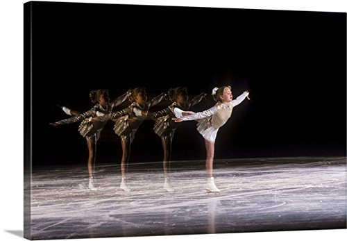 Duomo Archive Premium Thick-Wrap Canvas Wall Art Print entitled Sequence of female figure skater in action