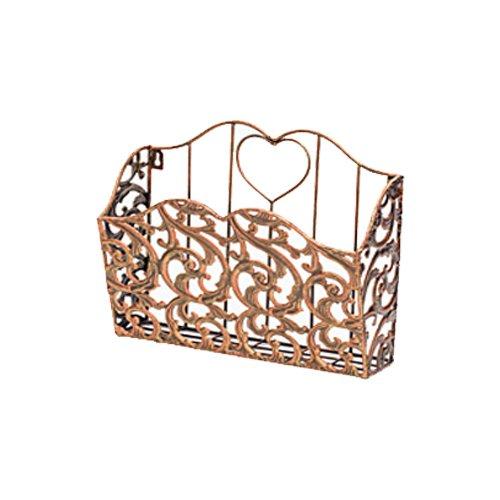 Decorative Metal Magazine Holder Wall Mounted (Basket Folder Wicker File)