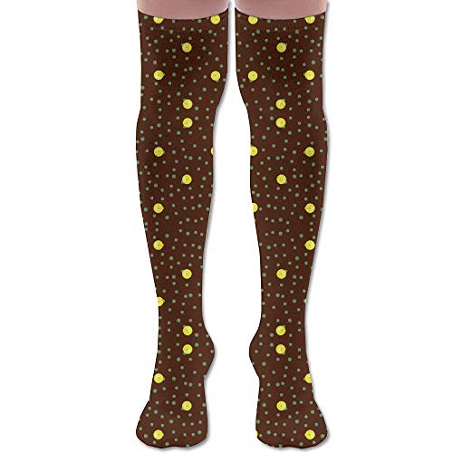 (DFAUHAL Buttercups On A Bush Coordinate Dot (Dark Twig) FA Knee High Graduated Compression Socks for Unisex - Best Medical, Nursing, Travel & Flight Socks - Running &)