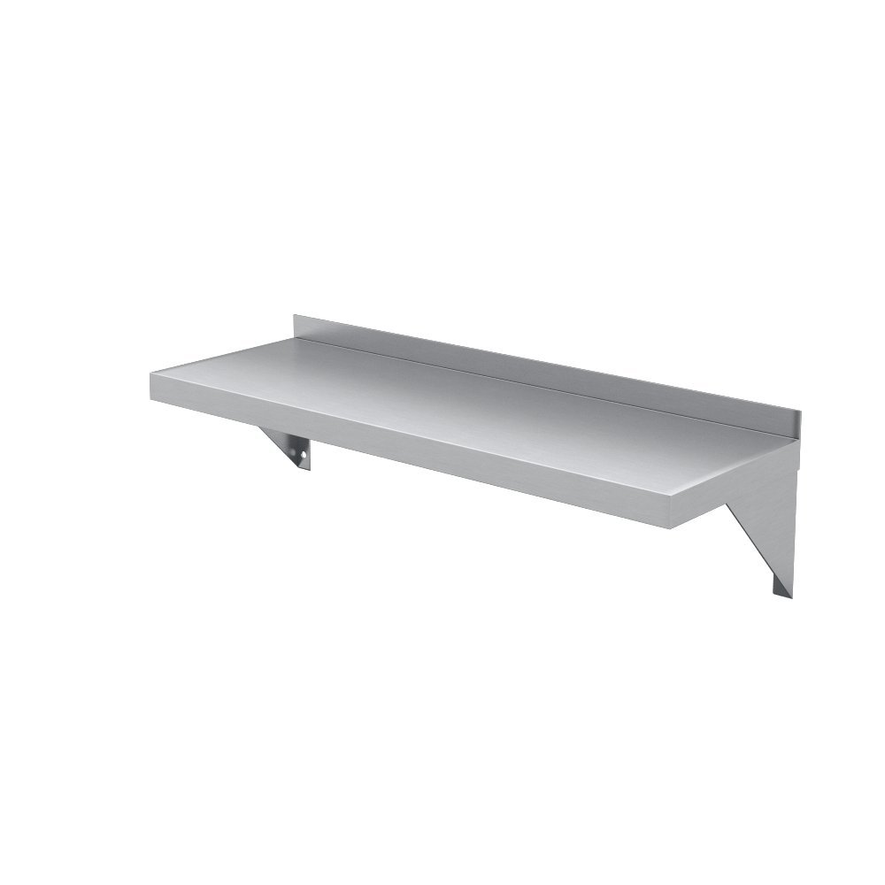Elkay Professional Series NSF Stainless Steel Wall Shelf with Backsplash without Mounting Hardware, 24'' x 12'' by Elkay Foodservice (Image #5)