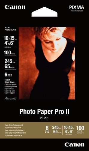 Canon Photo Paper Pro II,  4 x 6 Inches, 100 Sheets - Heavyweight Paper Inkjet Canon
