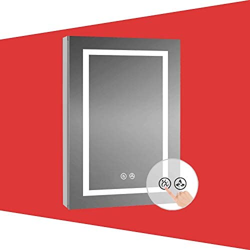 Recessed or Surface LED Lighted Mirror Medicine Cabinet