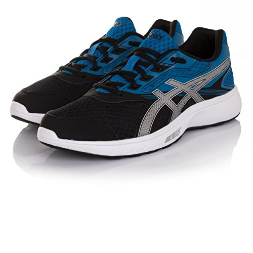 Asics Mens Stormer Running-shoes Nero - Blu - Argento