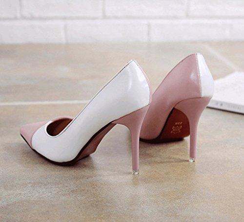 profonde talons à femme chaussures Couleur la 34 10cm LBDX bouche pointu hauts de peu travail taille 2 haut et chaussures Printemps 2 de talon chaussures automne fxYT0wq