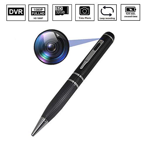 (Mini Pen Video Spy Hidden Camera Nanny Video Recorder,BSTCAM 32GB HD 1080P Mini Portable Body Worn HD Spy Video Recorder Hidden Camera Pen)