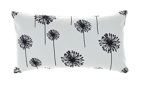 Black and White Pillow Covers Small Pillows Cover Dandelion 12x16