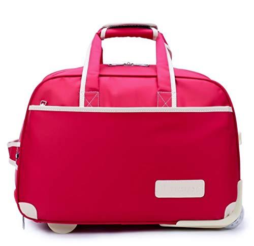 新オックスフォードブレーキバッグ大容量トラベルバッグナイロン防水タグバッグ男性と女性の近距離搭乗パッケージ B07PRM8VPW レッド