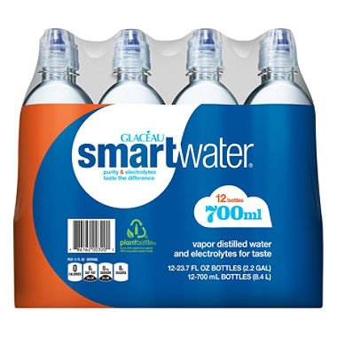 Glaceau SmartWater Water with Sports Cap (700ML bottles, 12 pk.) (pack of 2) by vitaminwater