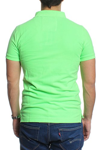 Superdry Polo Men VINTAGE DESTROY SS PIQUE POLO Lime Green