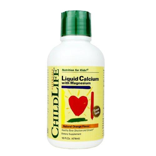 Liquid Life enfant Calcium / Magnésium, naturel Bouteille plastique orange Saveur, 16-Fl. Oz.