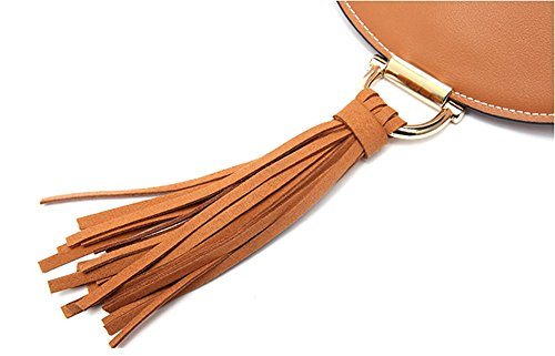 Handbags Women Q0982 Bag Soft Leather Brown Dissa Multiple Shoulder Pockets qS58FFxR1