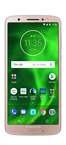 Moto G6 with Alexa Hands-Free - 32 GB - Unlocked (AT&T/Sprint/T-Mobile/Verizon) - Oyster Blush - Prime Exclusive Phone