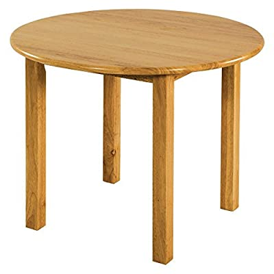 ECR4Kids Deluxe Hardwood Activity Play Table for Kids, Solid Wood Childrens Table for Playroom/Daycare/Preschool, Natural Finish