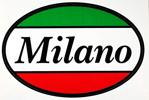 (Italian Milano Flag Car Bumper Sticker Decal Oval - Italy Collection of Italian Pride Products at PSILoveItaly)