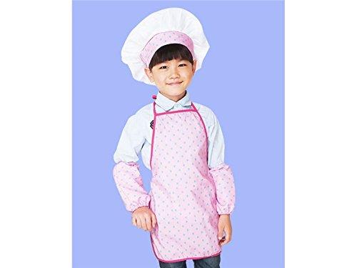 Junson Cepillo de Barbacoa Delantal Infantil para niños con Sombrero y Dos Mangas Delantal Infantil para niños con...