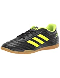 Adidas Men's Copa 19.4 Indoor Soccer Shoe, White/Organge, One Size