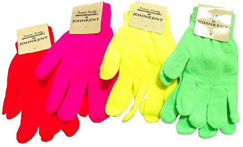 Neon Knit Magic Gloves - 4 -