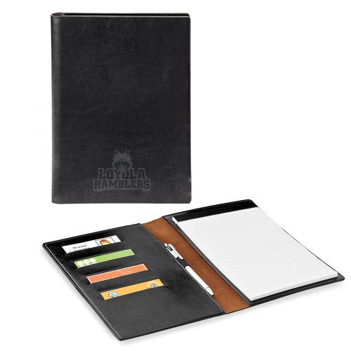 Loyola Chicago Fabrizio Junior Black Padfolio 'Loyola Ramblers Stacked Engraved'