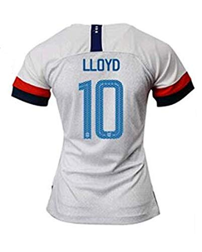 Carli Lloyd #10 2019-2020 USA National Team Women's Home Soccer Jersey (M) White