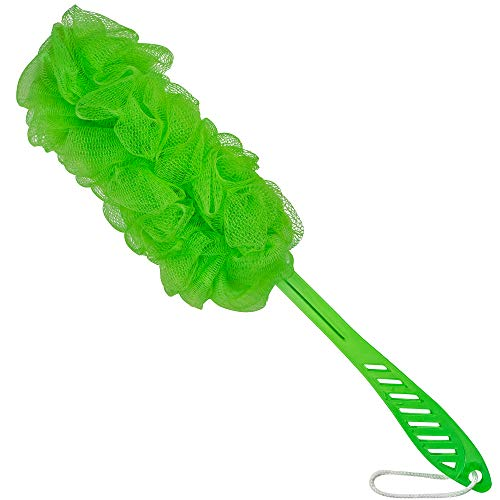 DecorRack Bath Sponge with Handle, Shower Loofah Brush, Back Cleaning Scrubber, 8